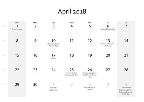 printable calendar waterproof april 2018 calendar printable waterproof