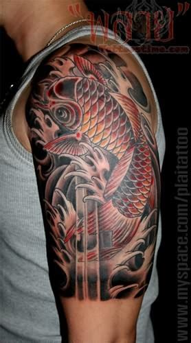 koi fish tattoo on shoulder koi fish tattoo on shoulder for young koi tattoo