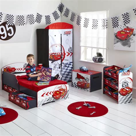 cars decorations for bedrooms disney cars toddler bed with underbed storage shelf