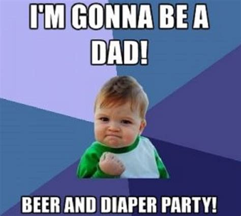 Baby Diaper Meme - a diaper beer party aka baby shower for the dad