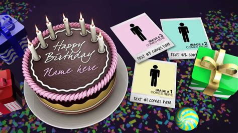 free template after effects birthday cake celebrations after effects template youtube