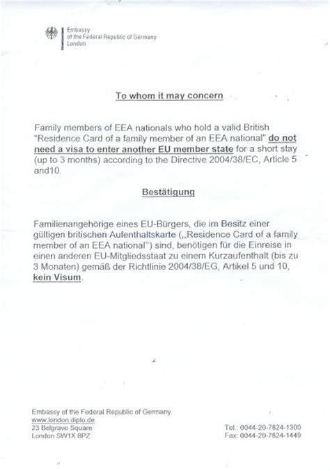 Motivation Letter Visa Germany sle personal covering letter for schengen visa cover