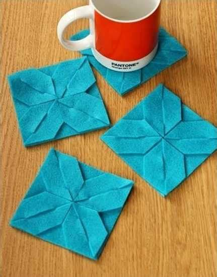 Origami Mat - weaved fabric decorative accessories bringing origami