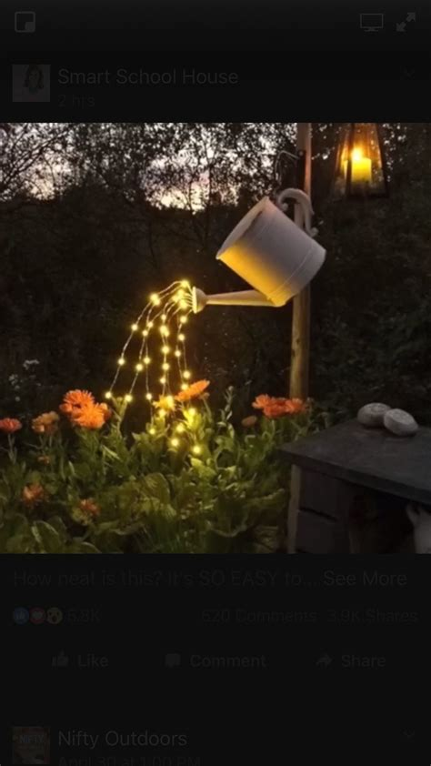 watering can with lights watering can quot pouring lights quot have to make this