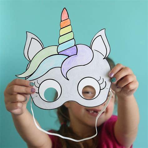 unicorn mask coloring page unicorn masks to print and color free printable unicorn
