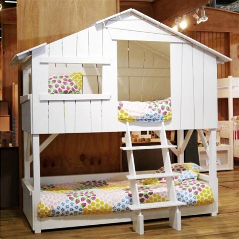 bunk bed house treehouse bunk bed mdf