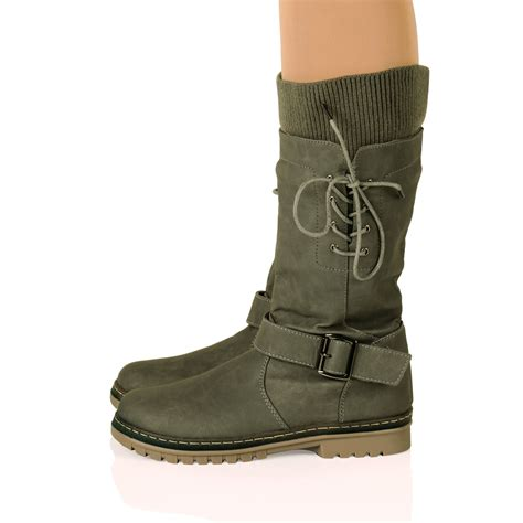 flat soled shoes womens flat thick sole winter flat low heel boots