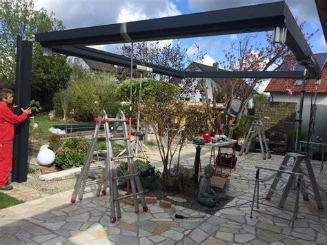 Mobiles Terrassendach by Terrassen 252 Berdachung Montage