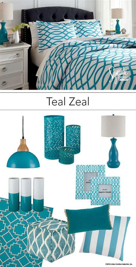 teal zeal teal turquoise bedroom bedding  accessories ashley furniture ashleyfurniture