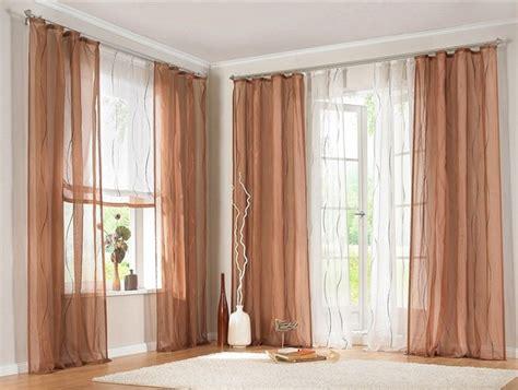 vorhang store 2 st gardine store vorhang 140 x 245 braun creme voile