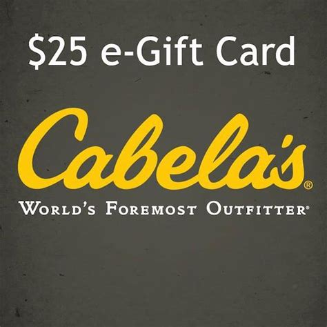 Cabelas Giveaway - win a 25 cabela s egift card flash giveaway the bandit lifestyle