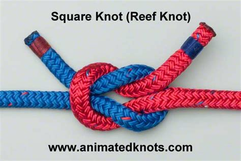How To Make Square Knots - square knot reef knot how to tie the square knot reef