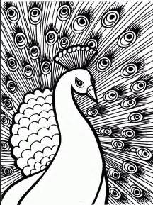 free printable peacock coloring pages for