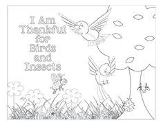 coloring pages birds and insects i am thankful for birds and insects coloring page lds