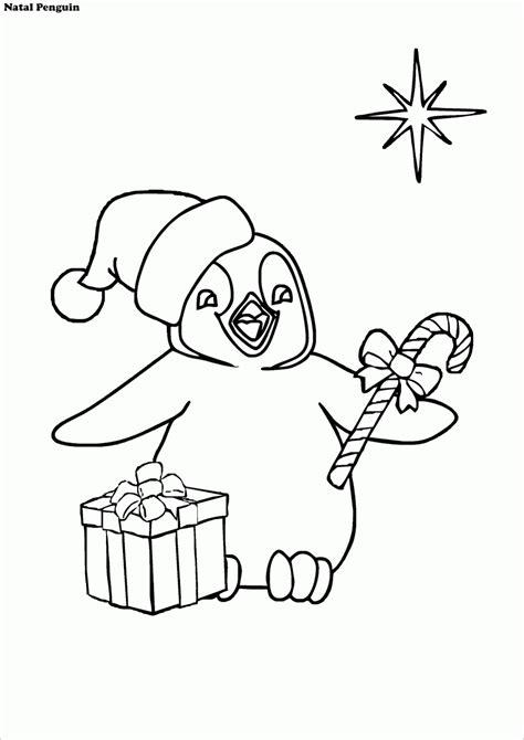 Mewarnai Gambar Suasana Natal Ala Penguin - Contoh Anak PAUD