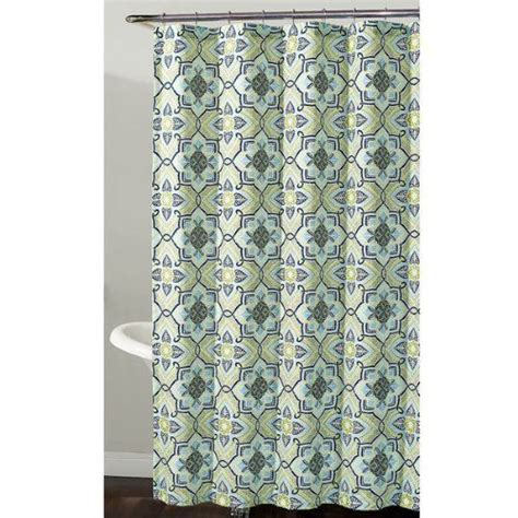 geometric shower curtains richloom home fashions millhouse geometric floral fabric