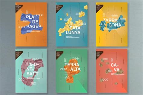 graphic design layout project branding and graphic design catalan wines project