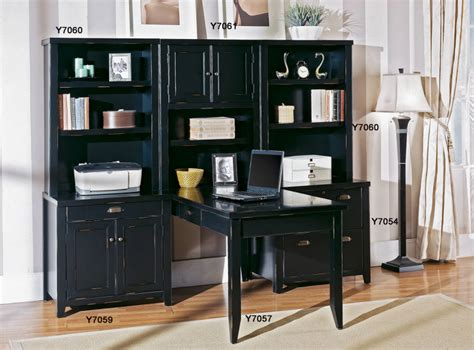 Tribeca Loft Black Office Furniture Double Pedestal Tribeca Office Furniture