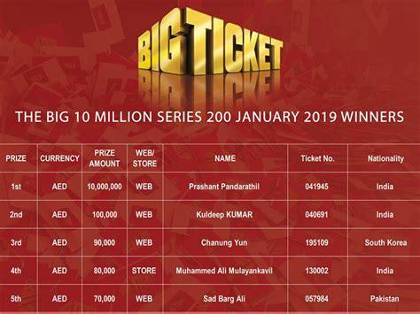 bid tickets indian expat wins dh10 million in big ticket draw