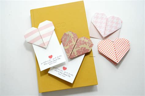 Origami Ideas For Valentines Day - origami bookmarks the idea room