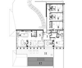 L House Design The L Shaped Floor Plan 1 Entrance Hall 2 Living Room 3
