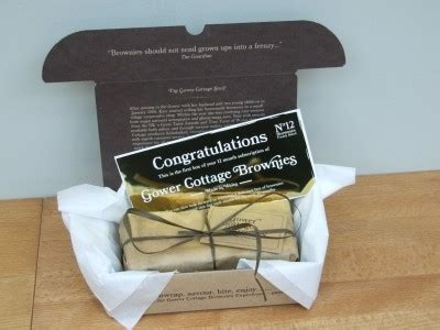 gower cottage brownies gower cottage brownies 12 month subscription free gift