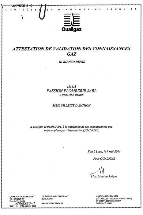Qualification de l' entreprise de plomberie chauffagiste
