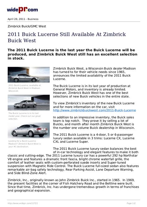 zimbrick buick west 2011 buick lucerne for sale at zimbrick buick west in