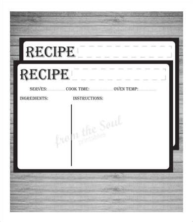 editable card template free recipe card template 10 free pdf free