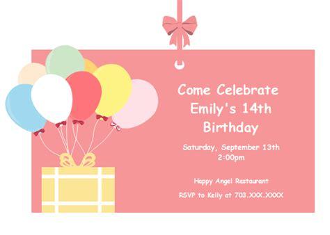 balloon birthday card template balloon birthday invitation card free balloon birthday