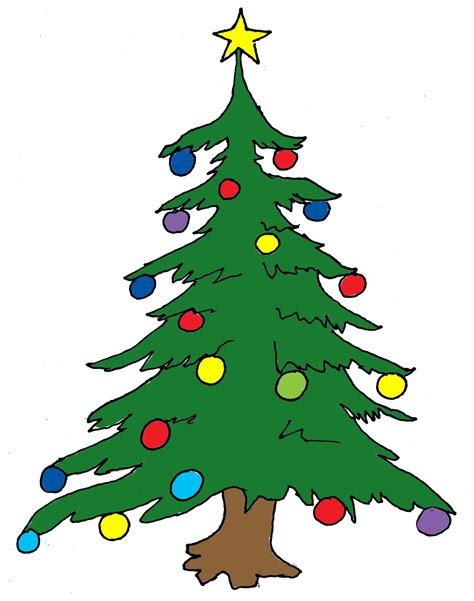 christmas tree cartoon ria9dedil public domain tree images clipart best