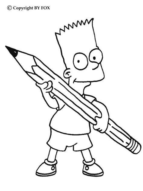 imagenes de los simpson para dibujar a lapiz dibujos para colorear bart con un l 225 piz es hellokids com