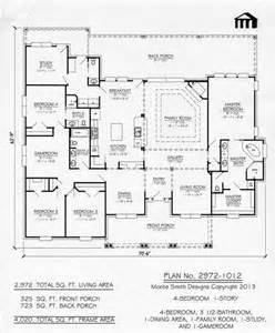1 Story 4 Bedroom 3 5 Bathroom 1 Dining Room 1 Family One Story House Plans With One Dining Area