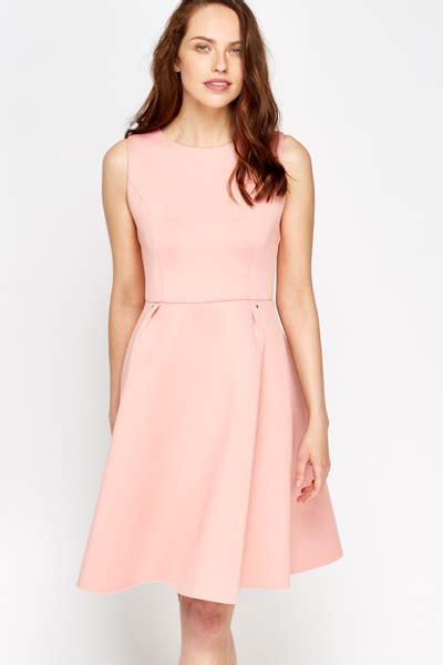 Light Pink Scuba Skater Dress Just 163 5