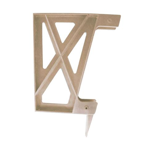 bench bracket peak products plastic deck bench bracket in redwood 2602