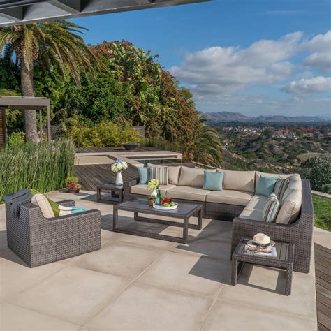 Kingston 10pc Deep Seating Collection Mission Hills Mission Patio
