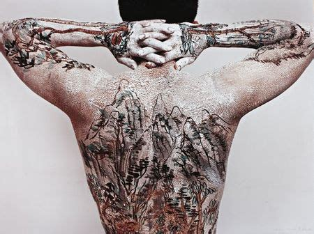 oriental landscape tattoo huang yan chinese landscape tattoo 1999 self
