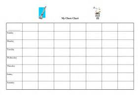 Chart Template by 9 Best Images Of Blank Weekly Potty Chart Printable