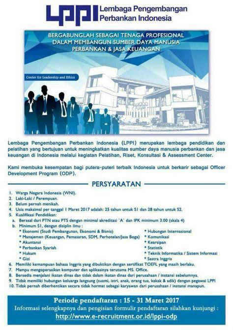 bca odp lowongan lembaga pengembangan perbankan indonesia lppi