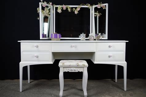 vintage dressing table with mirror and stool stag dressing table and stool vintage roses painted