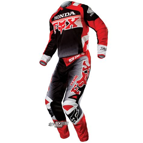 fox honda motocross gear equipement motocross 2015 fox 180 honda tenue enduro