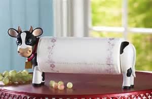 unique paper towel holders kitchen kitchen cow paper towel holder storage decor resin new ebay