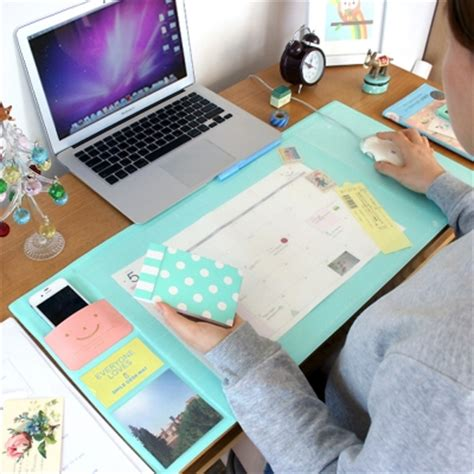 Sale Multifunctional Desk Biru Termurah korea sale kawaii color office mat multifunctional weekly planner organizer desk table