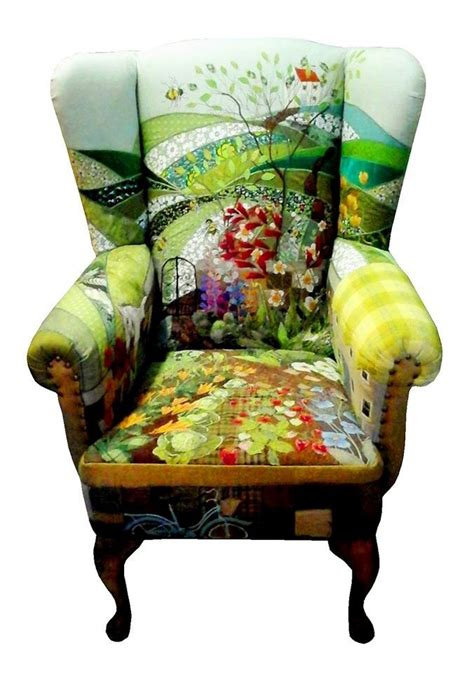 Patchwork Covered Chairs - 14 best quilts used unconventionally images on