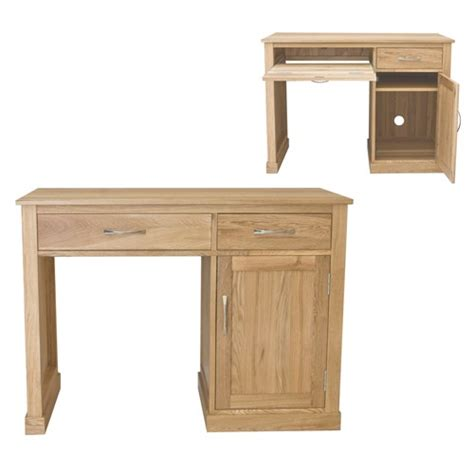 Oak Computer Desk Mobel Oak Single Pedestal Computer Desk