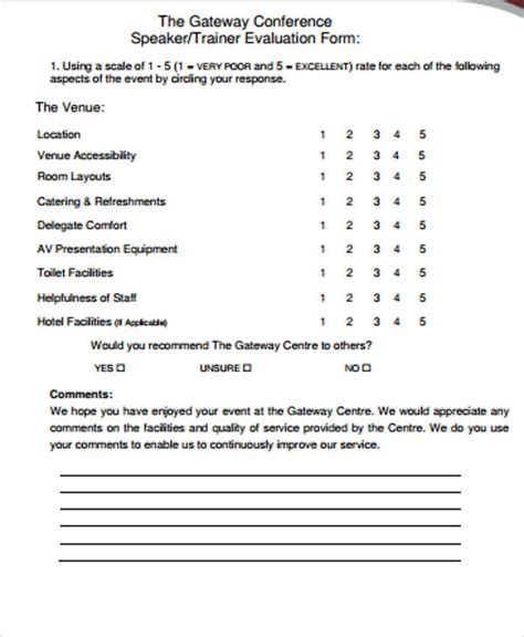 Letter Of Evaluation Sle Guest Speaker Template 28 Images Guest Speaker Evaluation Form Sle Guest Speaker 8 Sle