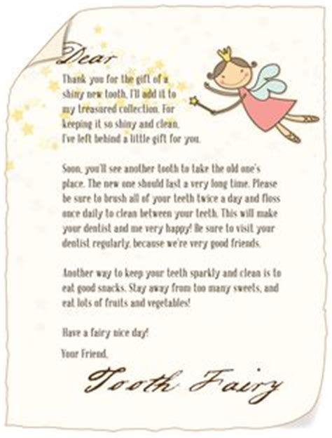 good tooth fairy letter template photos >> tooth fairy