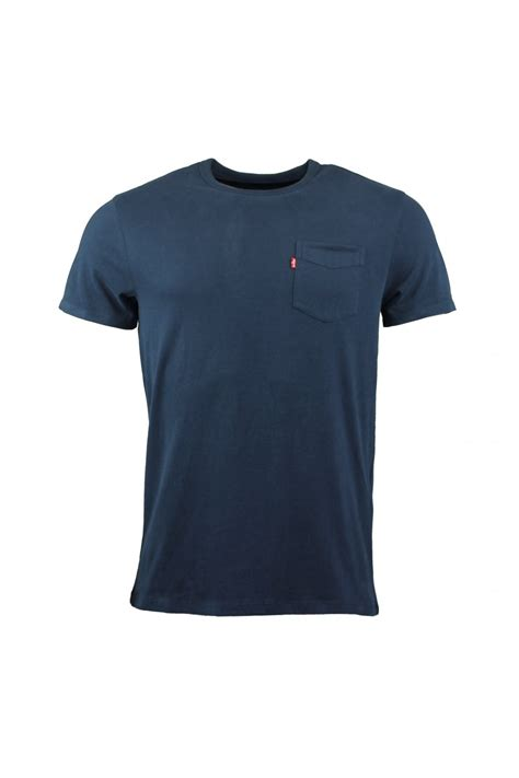 Levis Flannel Navy By Daino Store levi s classic one pocket t shirt navy levi s from
