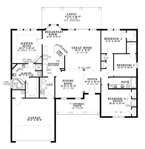 One Level Home Plans Smalltowndjs Com Single Level House Plans