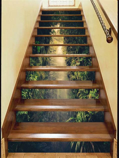Ebay Wall Murals 3d cave view 35 stair risers decoration photo mural vinyl